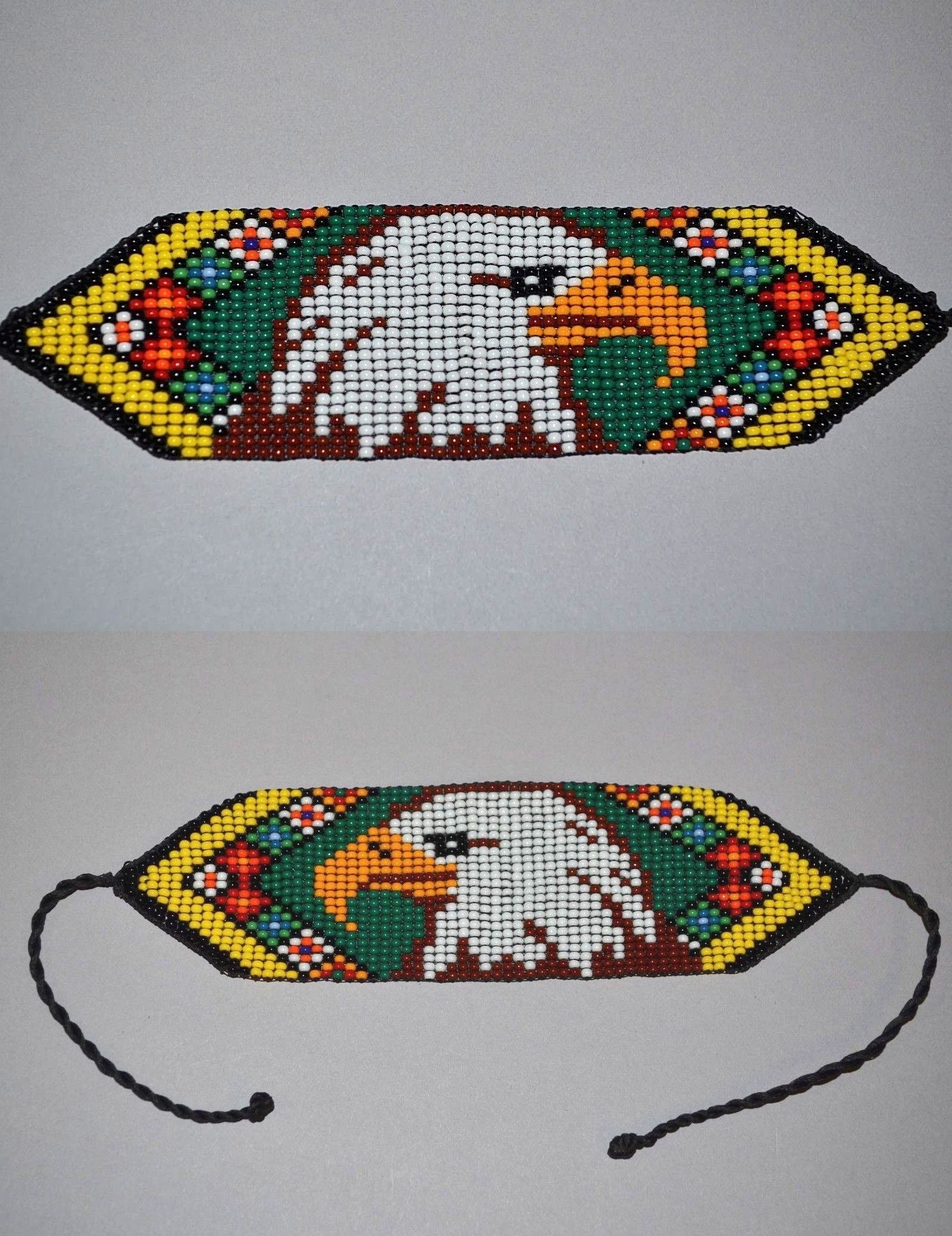 Bracelets 98504: Handmade Glass Seed Bead Loomwork Eagle Bracelet, Colombian Beadwork - Colombia -> BUY IT NOW ONLY: $26 on #eBay #bracelets #handmade #glass #loomwork #eagle #colombian #beadwork #colombia #nativeamericanbeadworkpatters