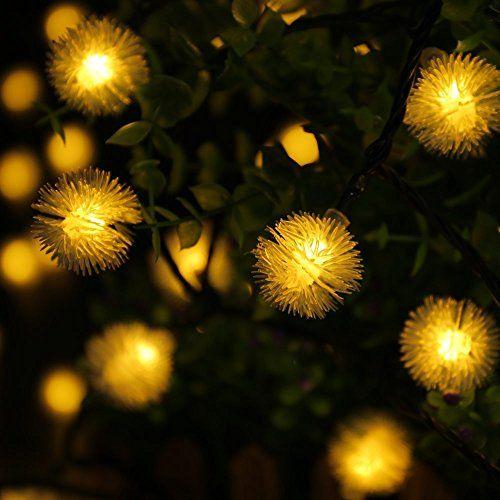 MT TECH 20 LED Outdoor Christmas Decorative Lights Chuzzle Ball