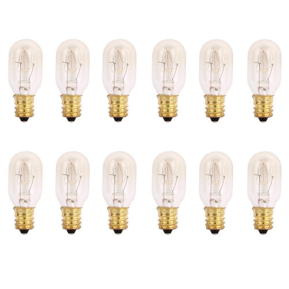 Pack of 12 -15 Watts Tubular bulbs for Himalayan Salt Lamps light ...