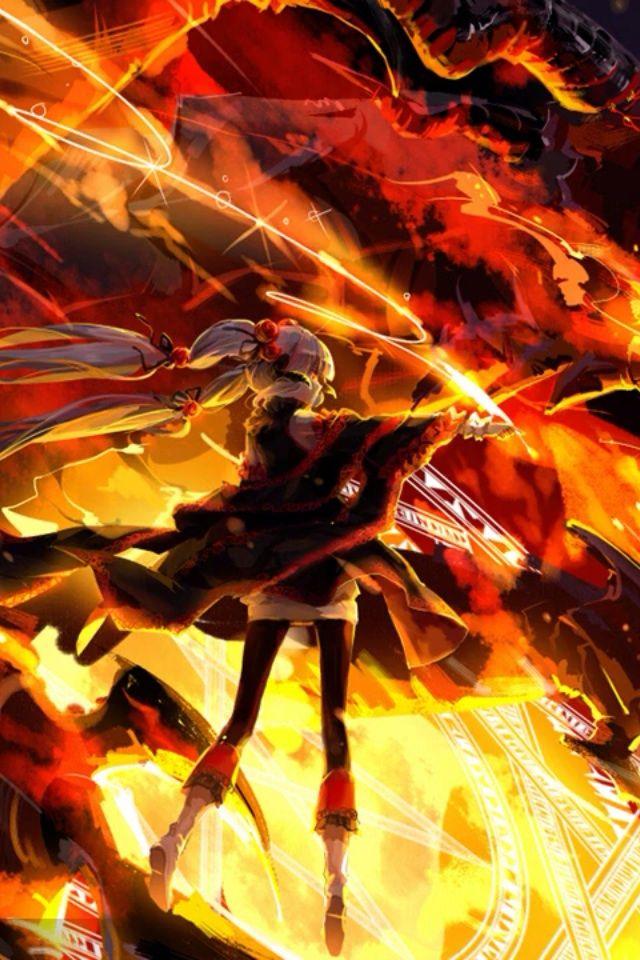 Fire Magic Girl Cool Anime Wallpapers Anime Wallpaper Anime Background