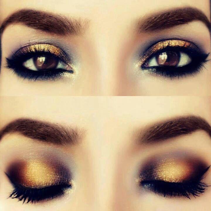 Gold Makeup Makeup Pinterest Makeup Eye Makeup And Makeup Looks