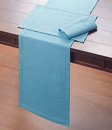 Noble Excellence Hemstitch Table Linens Dillards Bjs