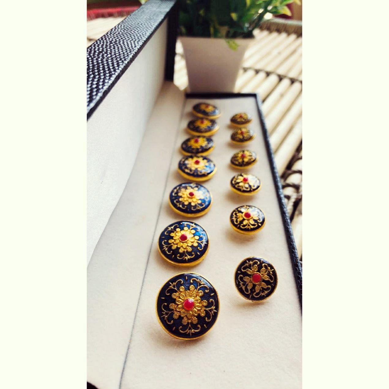Handmade traditional Rajasthani Enameled Button