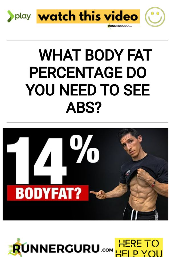 What Body Fat Percentage Do You Need to See Abs? | RunnerGuru