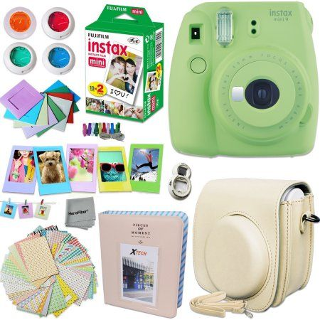 Album Ice Blue Katia Instant Camera Accessories Bundle Compatible for Fujifilm Mini 9 // Mini 8+ // Mini 8 Instant Film Camera Stickers Strap,etc Includes Camera Case Frame
