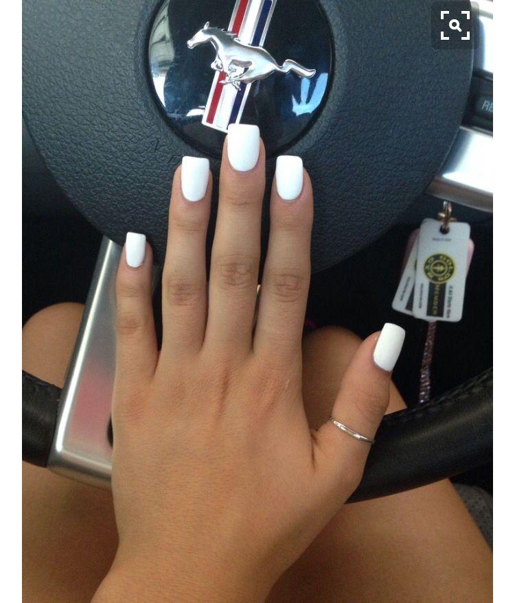 White nails   nails   Pinterest   Diseños de uñas, Uñas postizas y ...