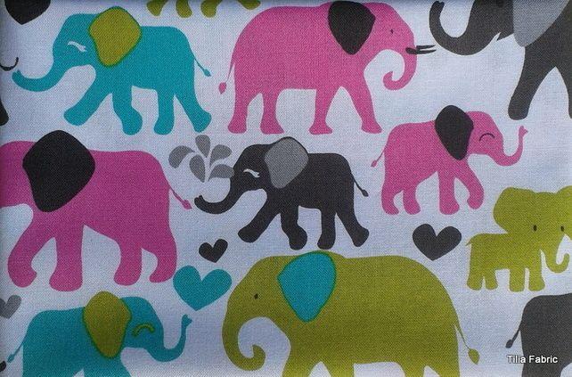 Michael Miller Elephant Walk Fabric £2.75