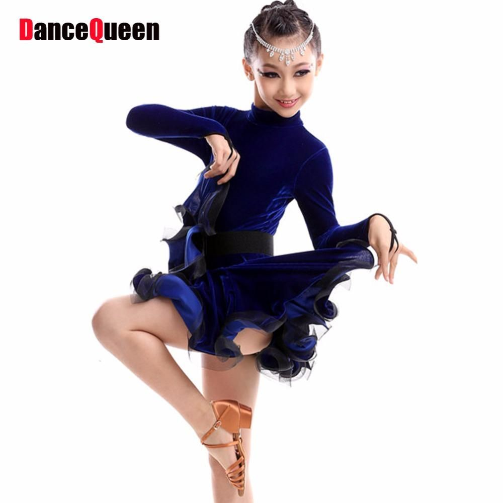 0759f0ed7add0 Girls Dance Latin Dresses Kids Dance Costumes Ballroom Dance Competition  Dresses Children Cha Cha Samba Rumba Tanto Dance Wear