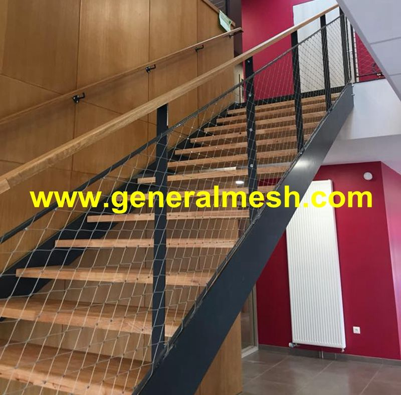 Generalmesh X Tend Garde Corps Filet Inox Materiel 316 Cable Acier Inox Cable De Diametre 1 5mm 2mm Et 3 Mm Maille 50 X 87mm 60 With Images Balcony Deck Stair Railing