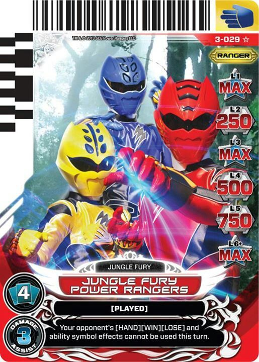 Jungle fury power rangers trading card for lil 39 one - Power rangers megaforce jungle fury ...