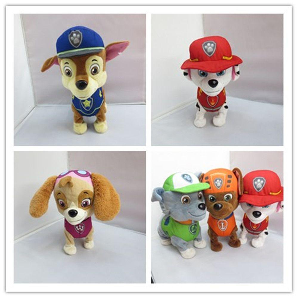 음악 도보 껍질 강아지 순찰 장난감 전자 개 액션 피규어 영어 러시아어 장난감 Juguetes Patrulla Canina 장난감