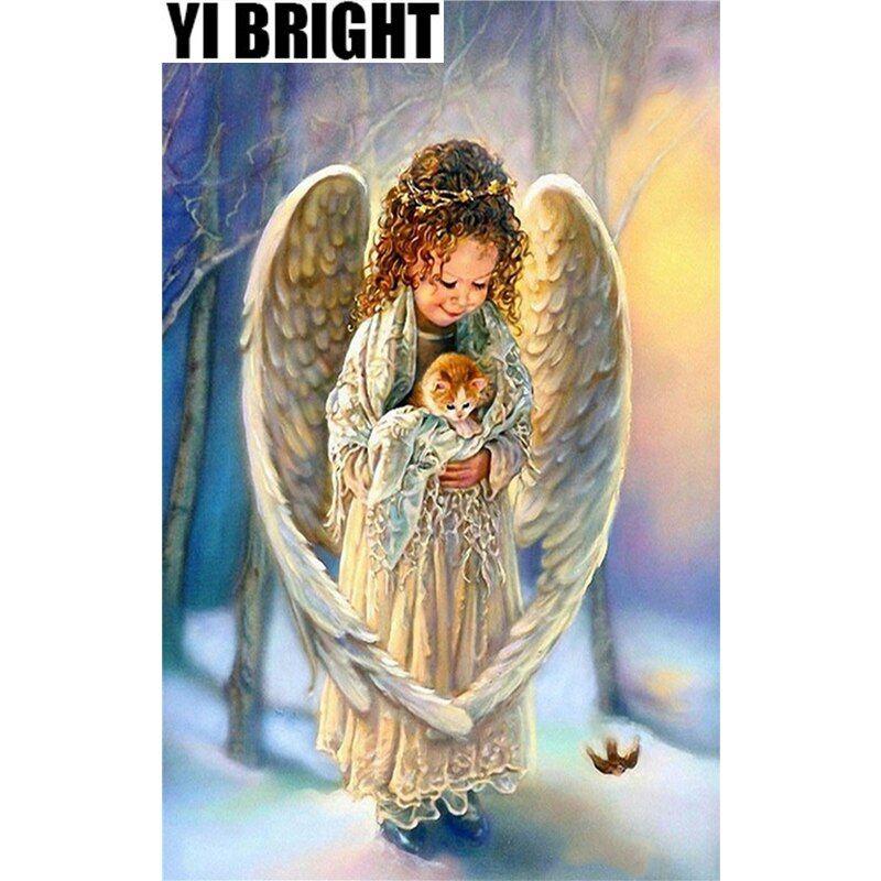 "YI BRIGHT DIY 3D Diamond Embroidery,Cross Stitch,""Angel ..."