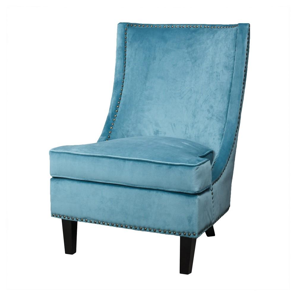 Carole velvet single sofa accent chair christopher
