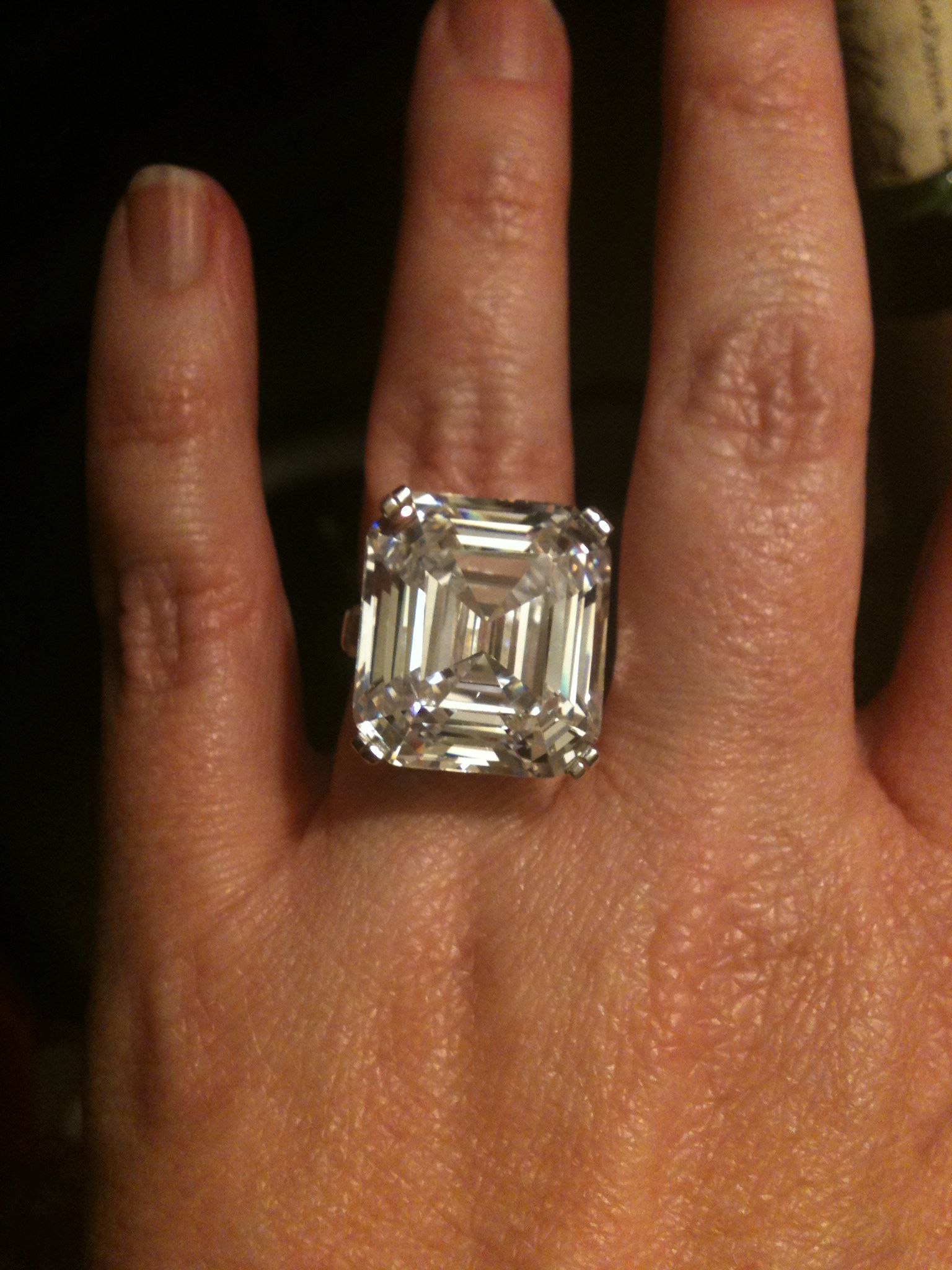 My Replica Of The Elizabeth Taylor Diamond. This Stone Was Formerly Known  As The Krupp Diamond.