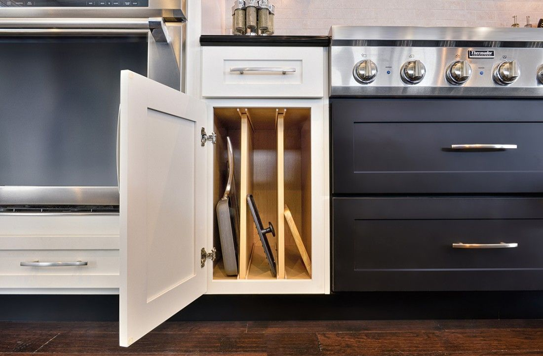 Smart storage solutions by cliqstudios keeps your kitchen organized