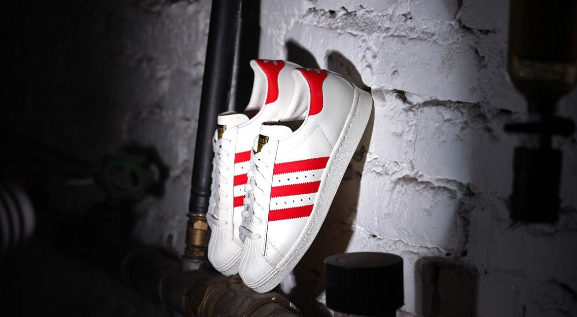 "Adidas Superstar 80s Deluxe ""Scarlet Red"""