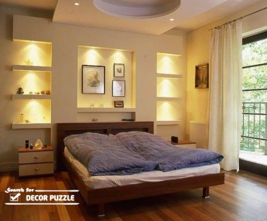 Pop Wall Designs With Lights Modern For Bedroom Bedroom
