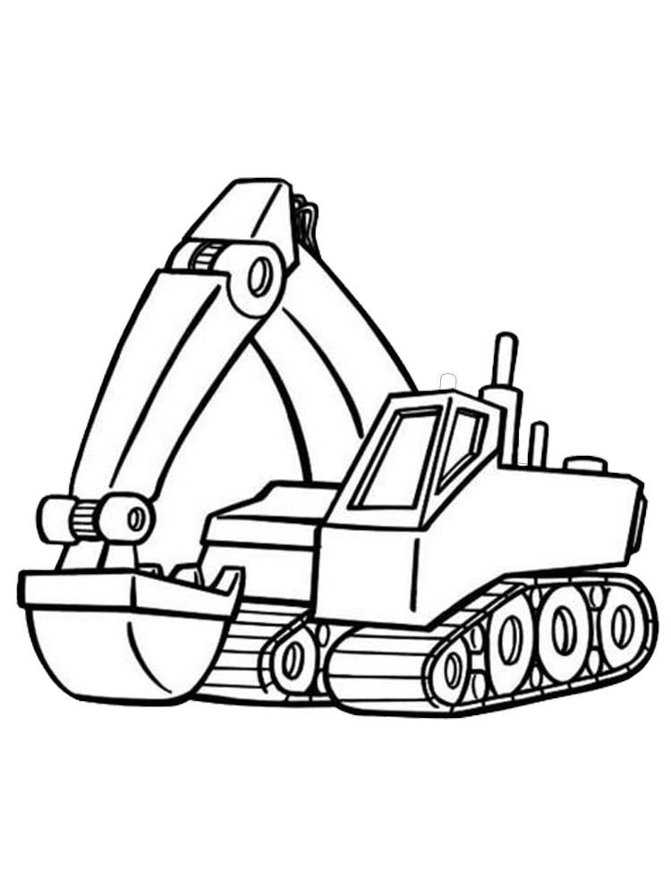 Caterpillar Excavator Coloring Pages Excavators Are Heavy Equipment Consisting Of Arms Booms And Buck Tractor Coloring Pages Caterpillar Excavators Excavator