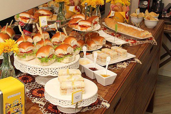 Pin de may muniz en festa 25 pinterest mesas comida y for Casa jardin buffet