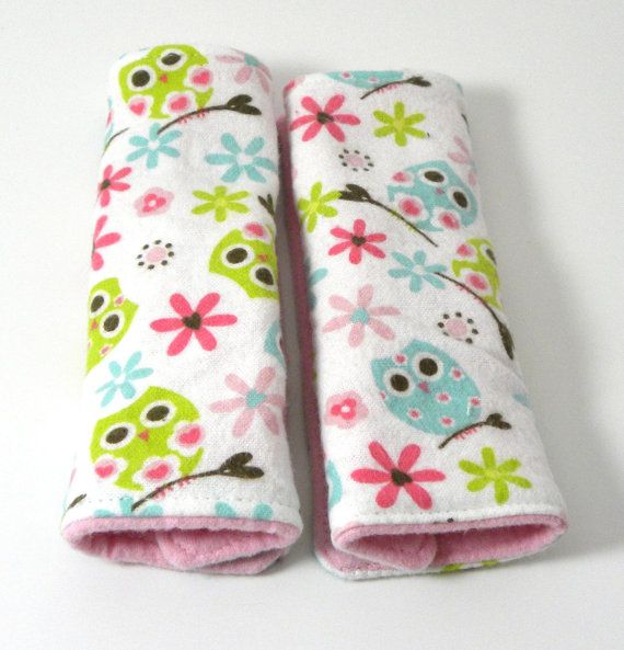 SALE Car Seat Strap Covers Owls Infant by TheCreativeRaccoon   Baby ...