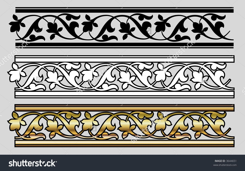 Seamless Victorian Style Design Elements Vector Damask Decor