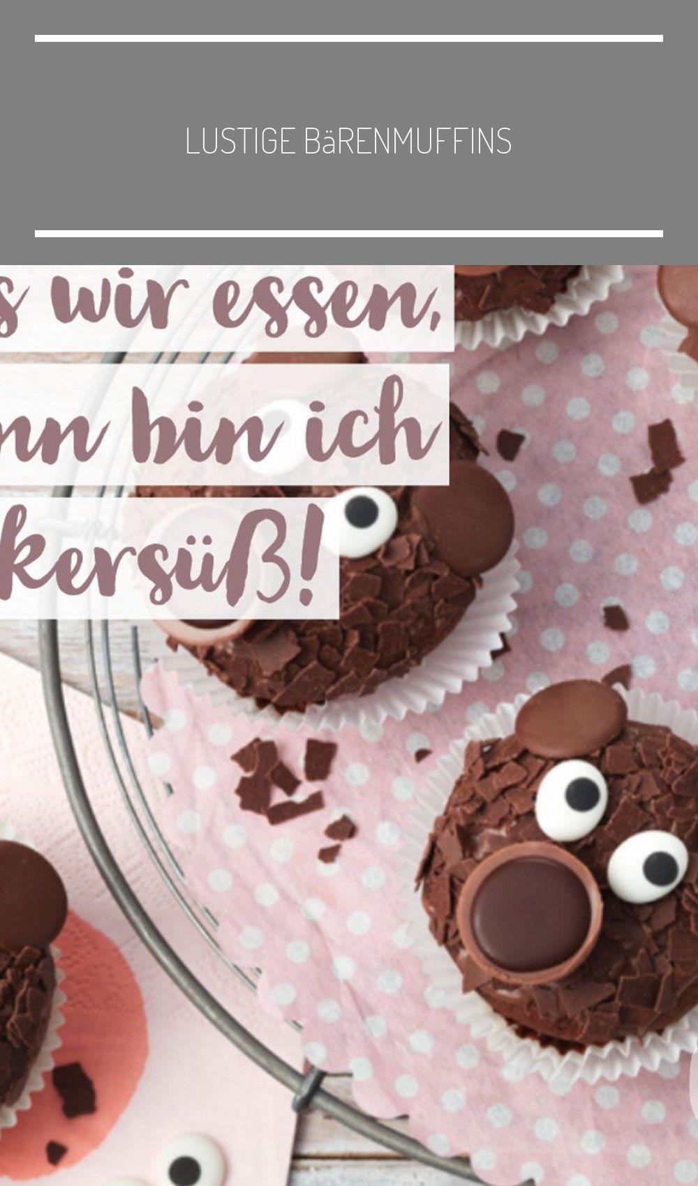 Lustige Bärenmuffins: Schokoladige Muffins für Kinder // # ...