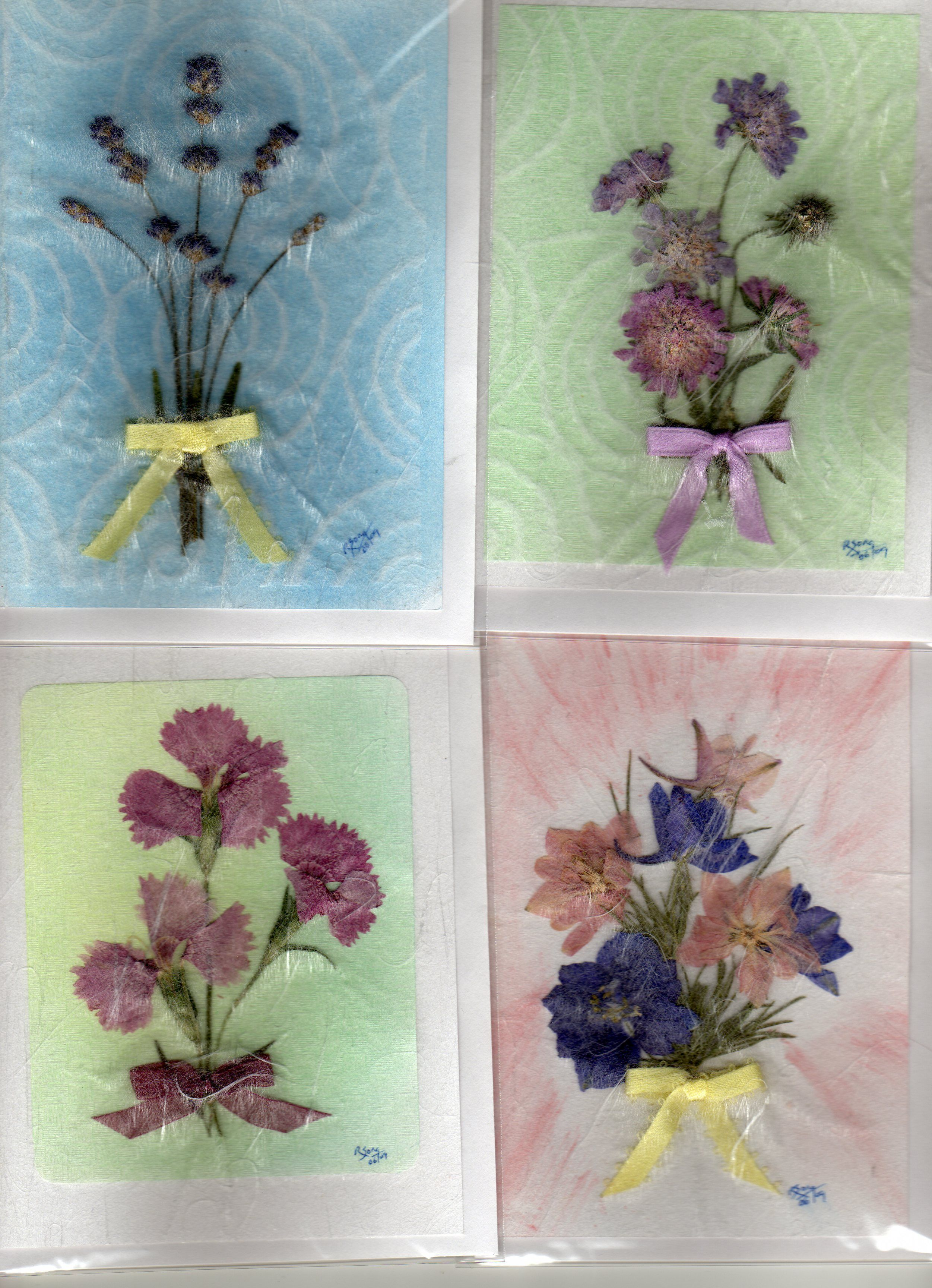 Bouquets  With Sanwa Paper Preserving Flowersleaf Skeletonpressed Flower Artdry