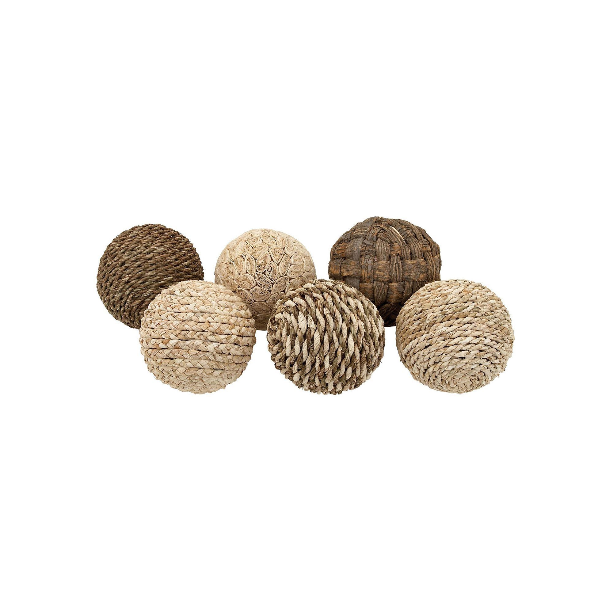 Coastal Living Assorted Balls Vase Filler 6-piece Set, Brown | Pinterest