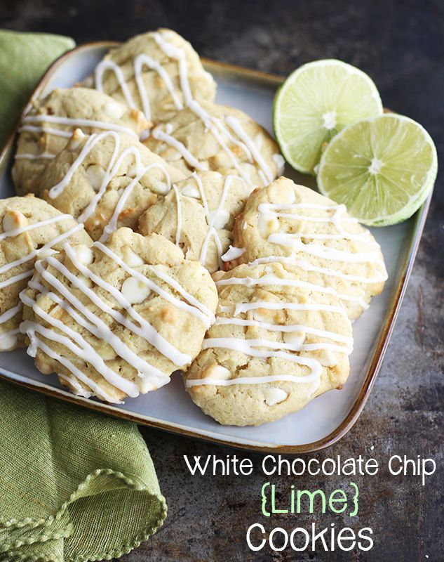 White Chocolate Chip {Lime} Cookies