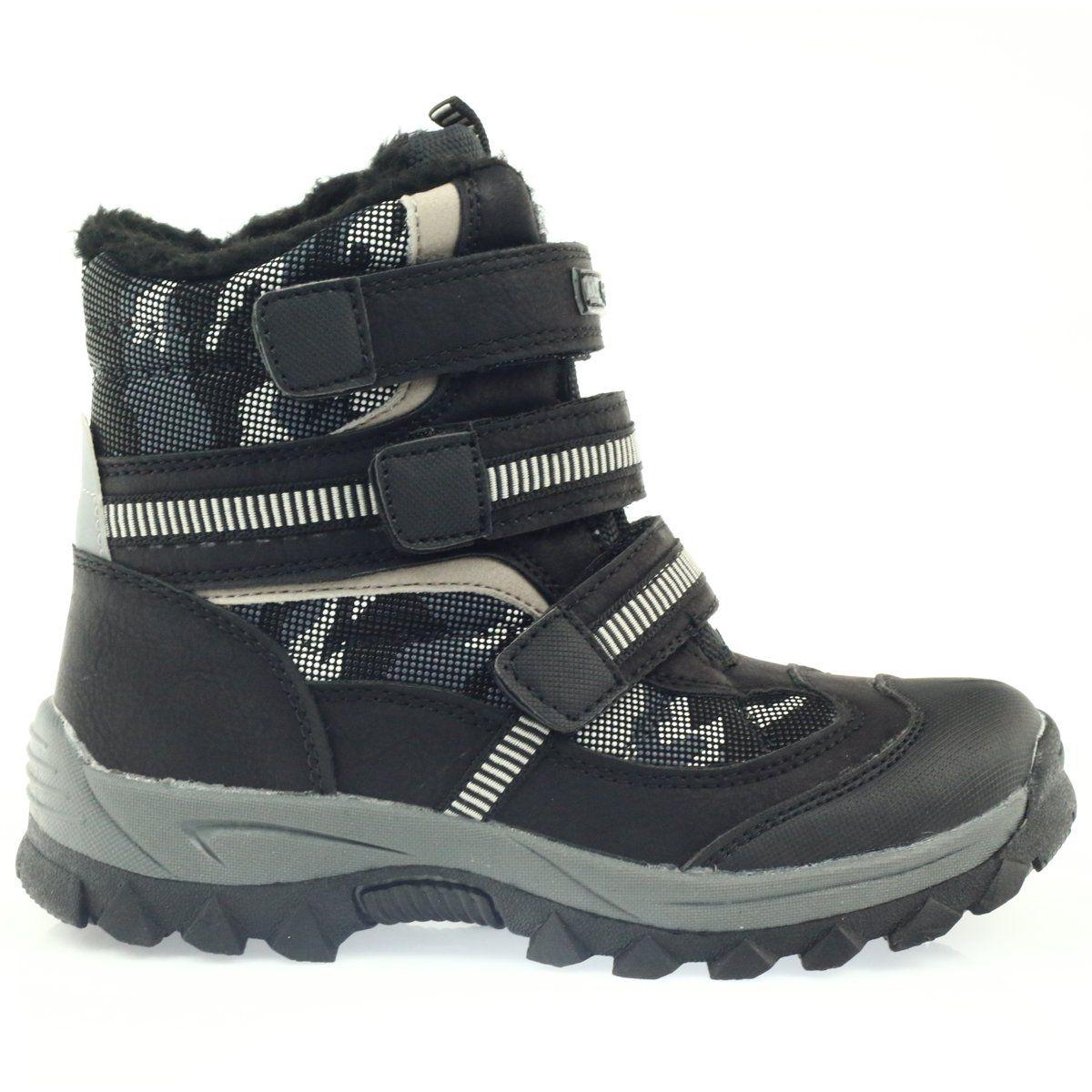 American Club American Kozaki Trzewiki Buty Zimowe 87433 Czarne Biale Szare Shoes Puma Fierce Sneaker Boots
