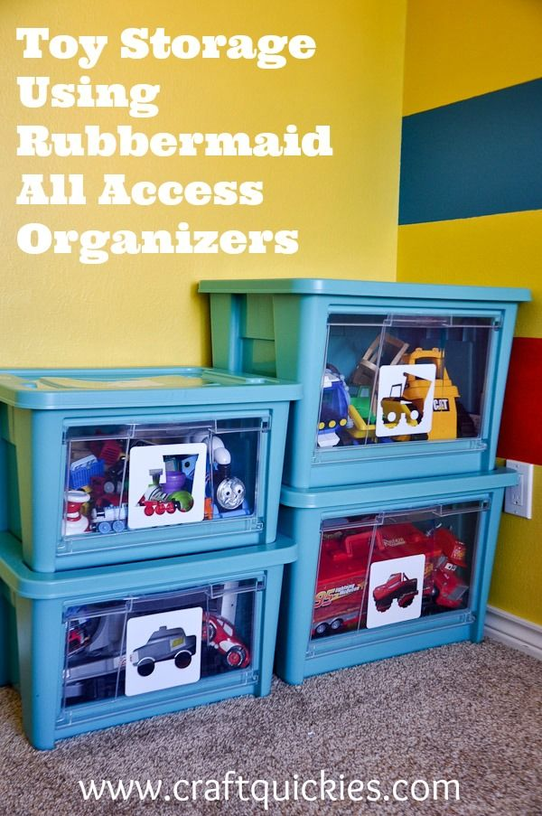 Toy Storage Solutions Using Rubbermaid All Access Organizers