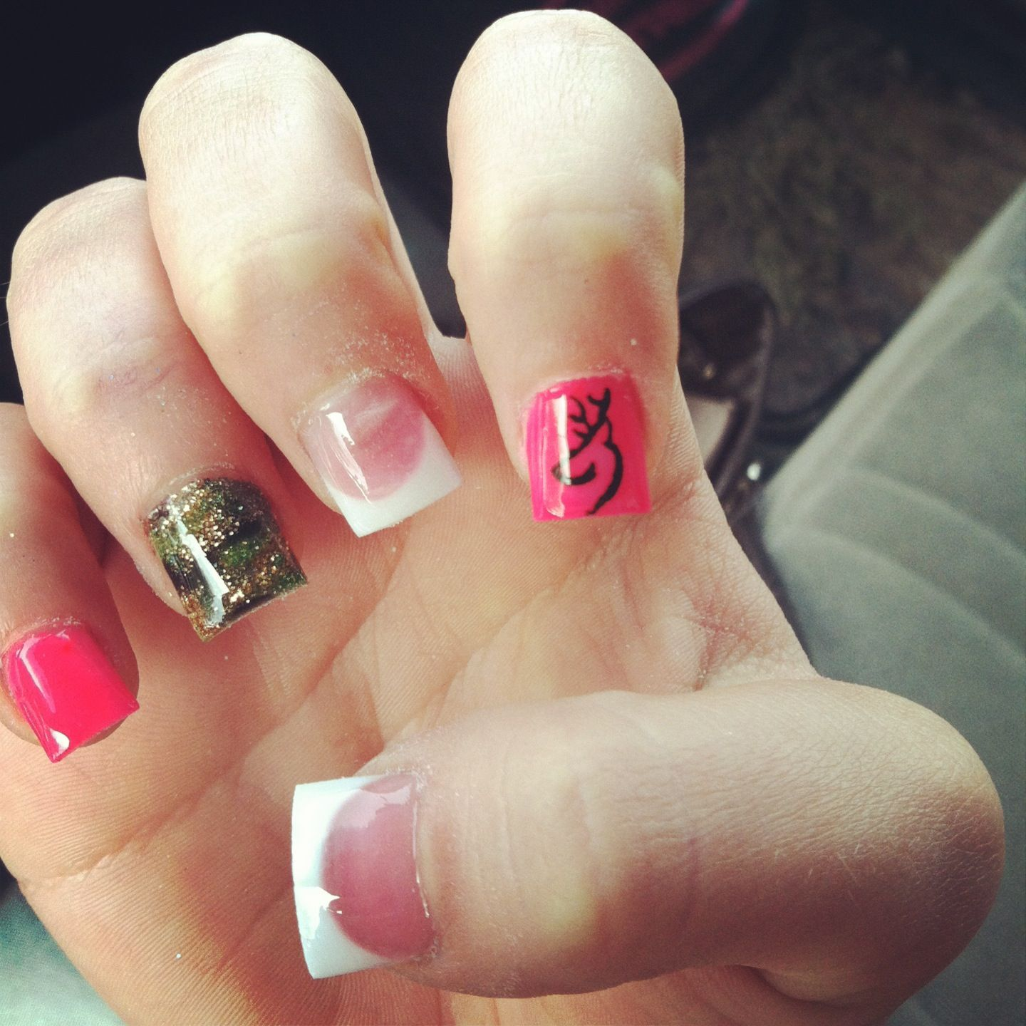 Browning nails, weird shape, and wouldn\'t do the white tip ...