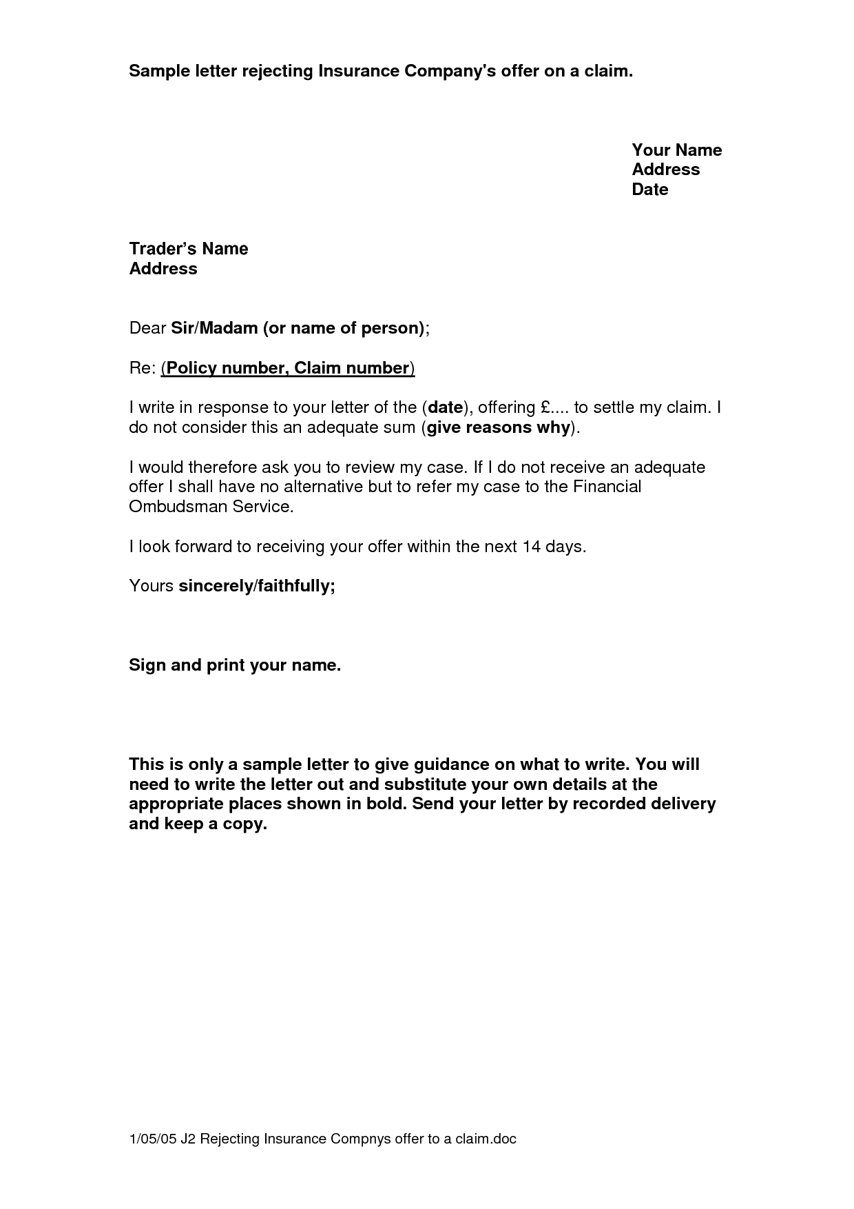 Claim Letter Writing Lawyer Information Portal Project Claims
