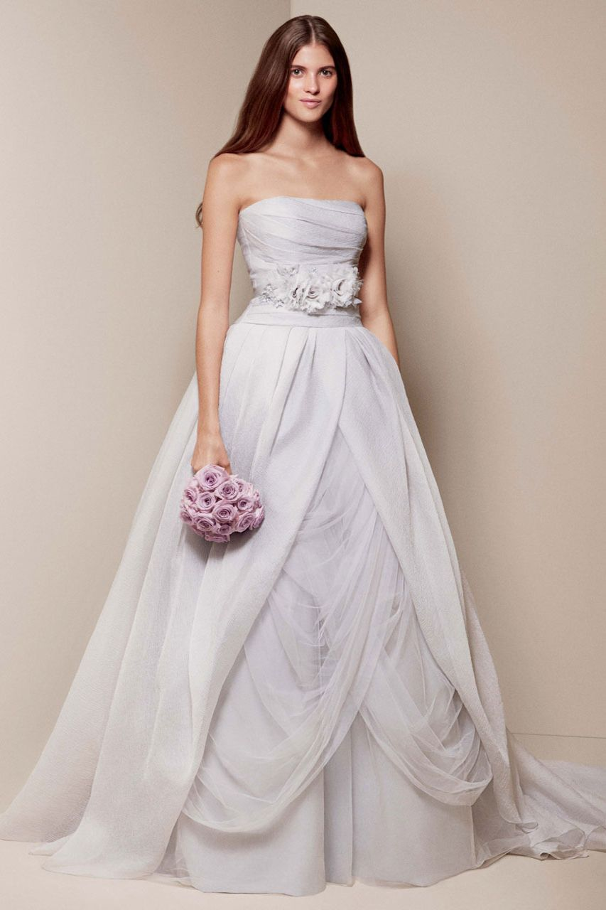 White by Vera Wang gown, available exclusively at David\'s Bridal ...