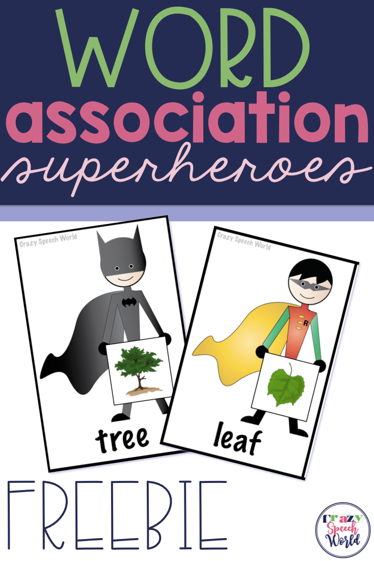 Practice Word Associations With Matching Pairs This Free Download Features Matching Batman And Robin Superhero Expressive Language School Climate