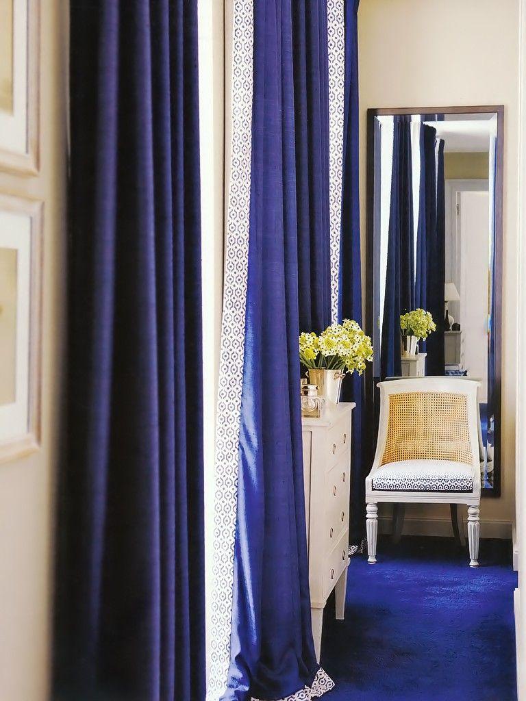 Piso E Cortina Azul Casa Pinterest Quartos Novos E Quartos -> Cortinas Para Sala Azul