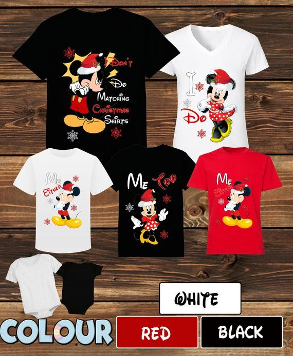 35eae7a2 Mickey Mause I Don't Do Matching Christmas Shirt Minnie Mause I Do Disney  Christmas