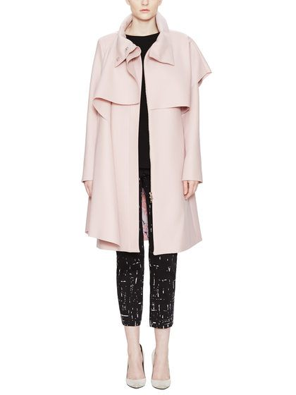 Wool Funnel Neck Scarf Coat by Thakoon at Gilt