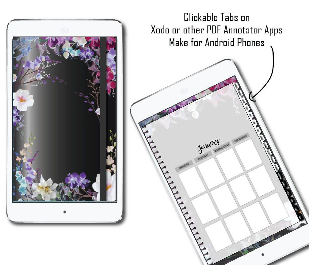 photograph relating to Digital Planners and Organizers identified as Android Electronic Planner w/PDF annotator purposes. Orchid Planner
