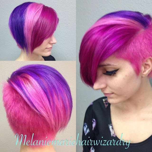 Multi Colored Short Hairstyles Short Hair Color Short Dyed Hair Bright Hair