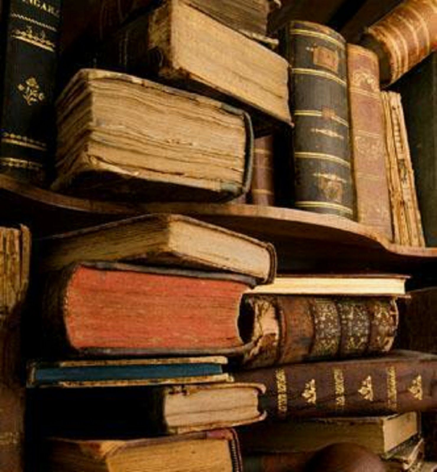 Old books stuffed into shelves...   Books   Pinterest