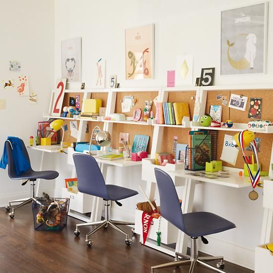 Kids Homework Room Ideas: Little Sloane Leaning Desk (White)