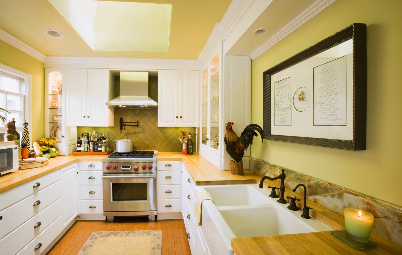 Modern Yellow Kitchen Color Schemes Collection - Coloring Page ...