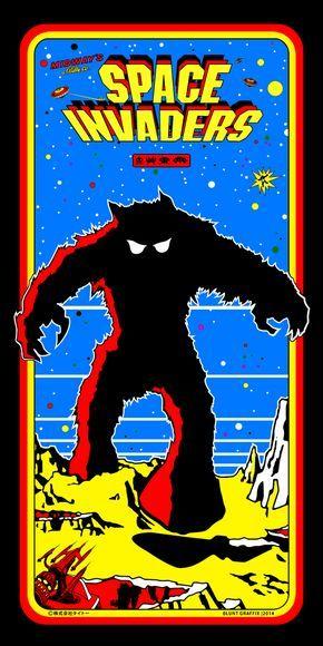 Space Invaders Arcade Retrogames Retro Arcade Games Retro Games Poster Retro Arcade