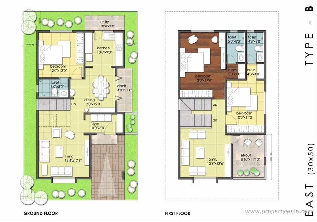 South East Facing House Feng Shui 30x40 house plans