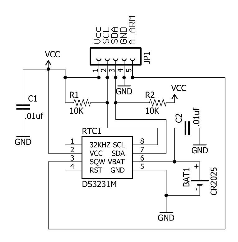 schematic for the basic rtc board
