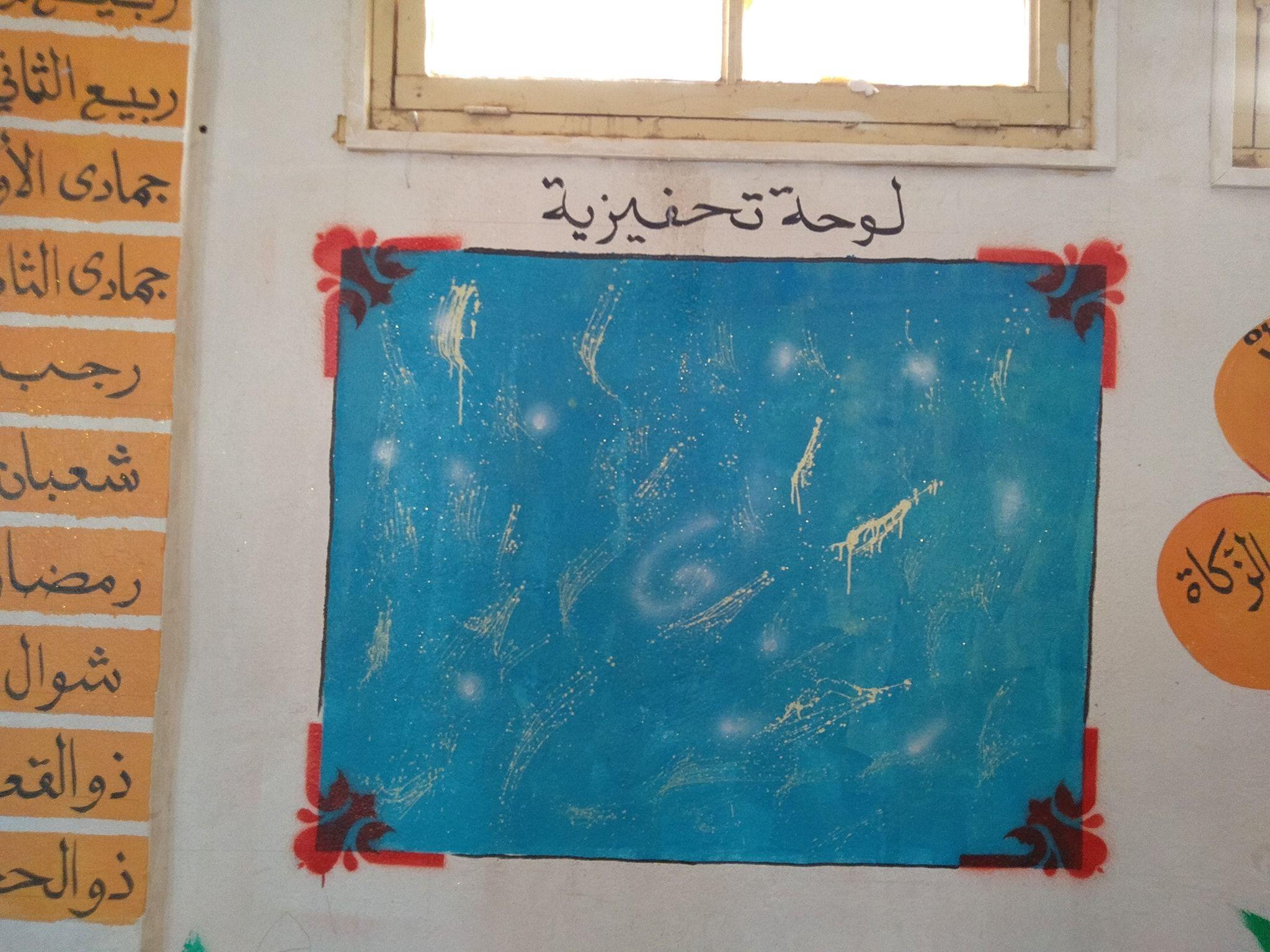 تزيين الفصل المدرسي لوحة تحفيزية