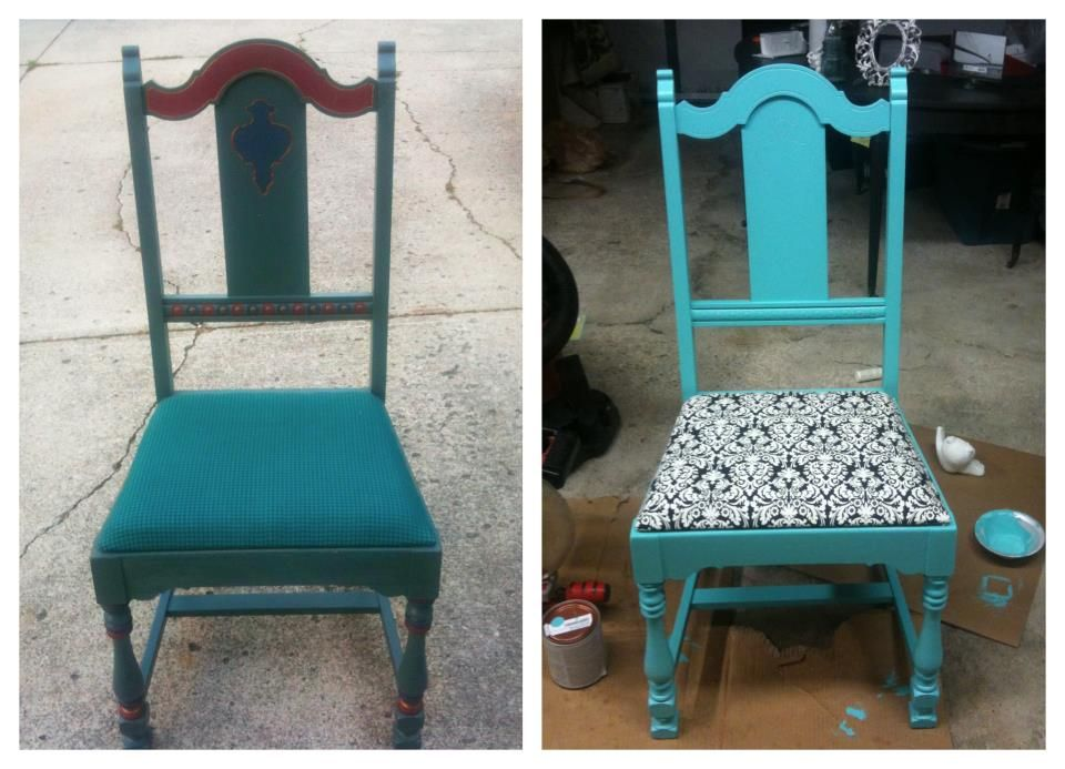 5 Dollar Goodwill Chair Painted And Reupholstered Upgrade