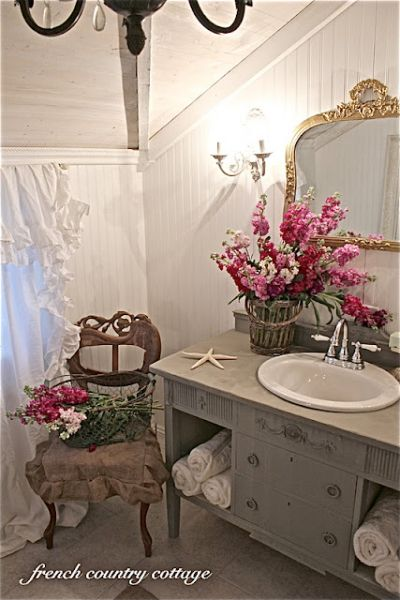 French Country Cottage Bathroom Makeover French Country Bathroom