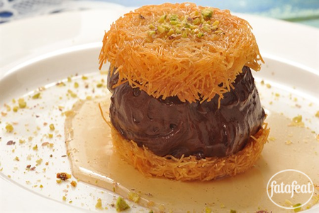 Knafeh With Chocolate Recipe Nutella Recipes Middle Eastern